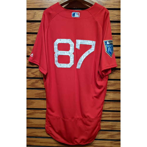 Photo of 2018 Spring Training Red #87 Team Issued Jersey