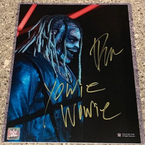 "Photo of Bray Wyatt SIGNED ""The Fiend"" 11x14 Metallic Photo (Close-Up w/ Inscription)"