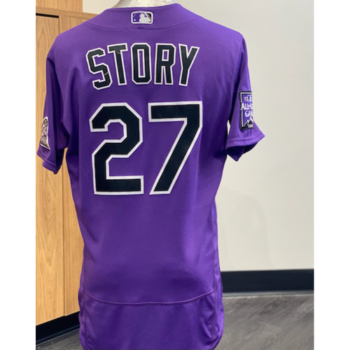 Photo of 2021 Game-Used Trevor Story Jersey - 9 Games, 14 Hits, 3 Homeruns, 10 RBI's