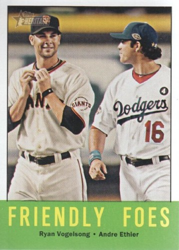 Photo of 2012 Topps Heritage #68 Ryan Vogelsong/Andre Ethier