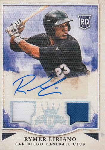 Photo of 2015 Diamond Kings Rookie Signature Materials Silver #179 Rymer Liriano/299