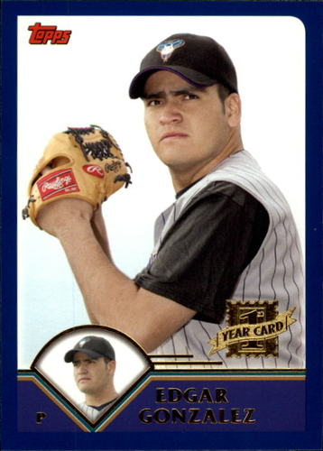 Photo of 2003 Topps Traded #T213 Edgar Gonzalez FY RC