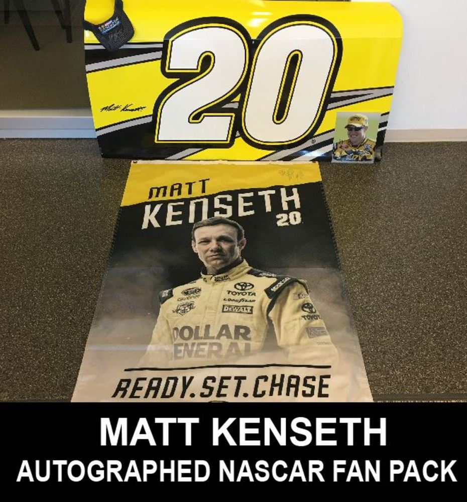 Autographed Matt Kenseth NASCAR Fan Pack!!!