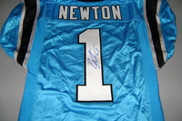 PANTHERS - CAM NEWTON SIGNED AUTHENTIC PANTHERS JERSEY - SIZE 38