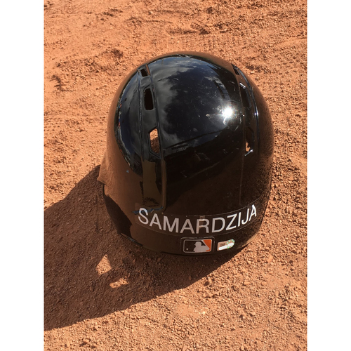 Photo of San Francisco Giants - 2017 Game-Used Spring Training Helmet Worn by #29 Jeff Samardzija - Size 7 3/8