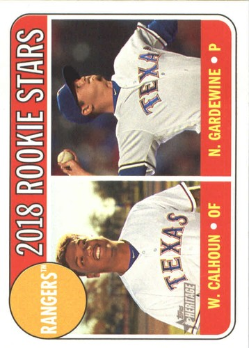 Photo of 2018 Topps Heritage #86 Nick Gardewine RC/Willie Calhoun RC