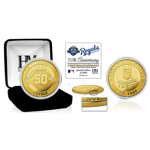 Photo of Kansas City Royals 50th Season Gold Coin
