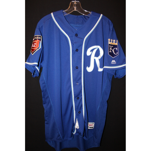 Photo of Game-Used Spring Training Jersey: Danny Duffy (Size 46)