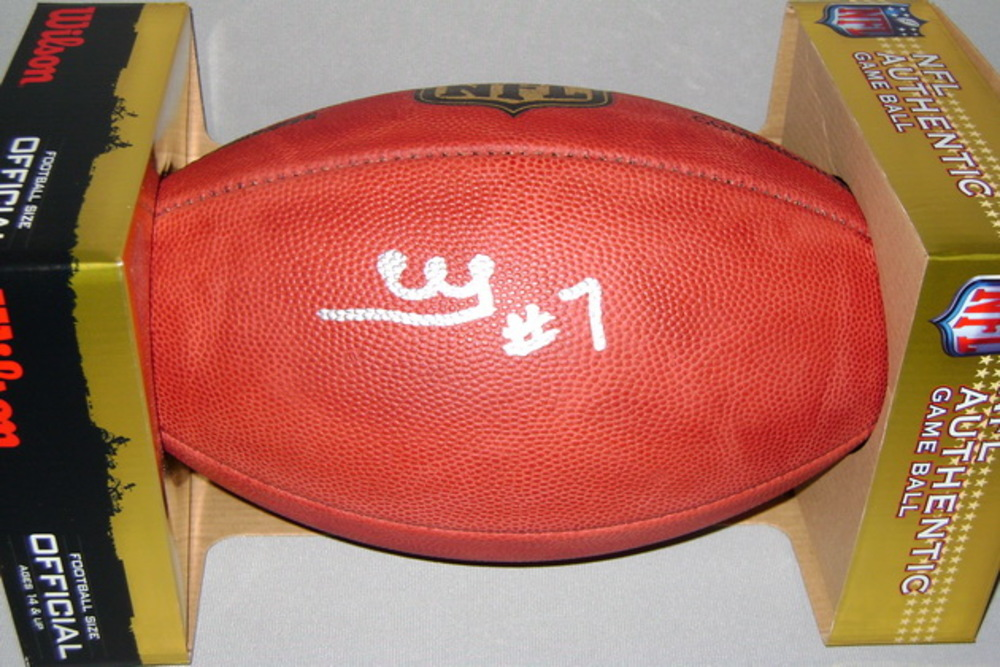 California Fire Relief- RAIDERS MARQUETTE KING SIGNED AUTHENTIC FOOTBALL