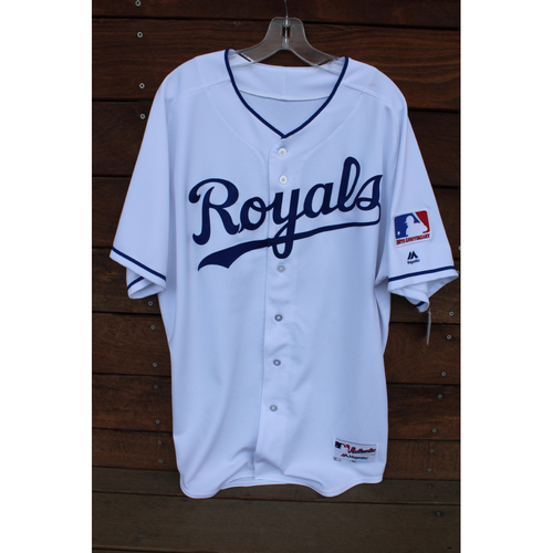 Photo of Game-Used 1969 Throwback Jersey: Ned Yost (Size 48 - NYY at KC - 5/19/18)