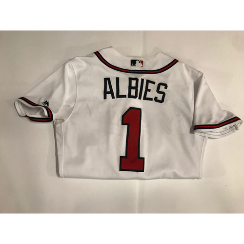 Photo of Ozzie Albies Game Used Walk-Off Home Run Jersey - June 25, 2018