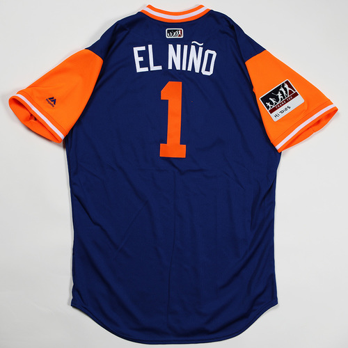 """Photo of Amed """"El Nino"""" Rosario New York Mets Game-Used Jersey 2018 Players' Weekend Jersey"""