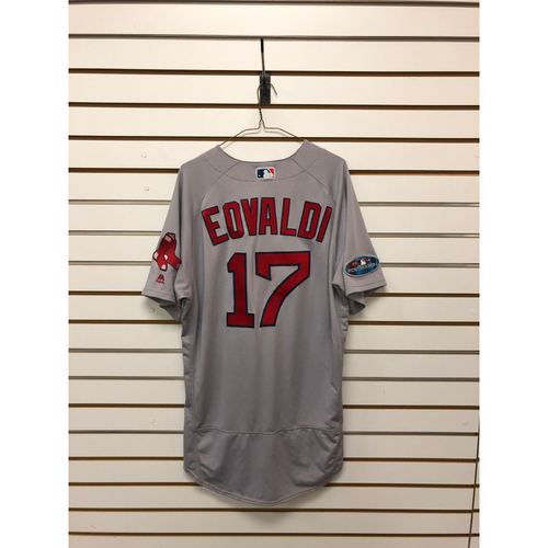 Photo of Nathan Eovaldi Game-Used ALDS Game 3 October 8, 2018 and ALCS Game 3 October 16, 2018 Road Jersey (Worn During Innings 2-6 ONLY on 10/16)