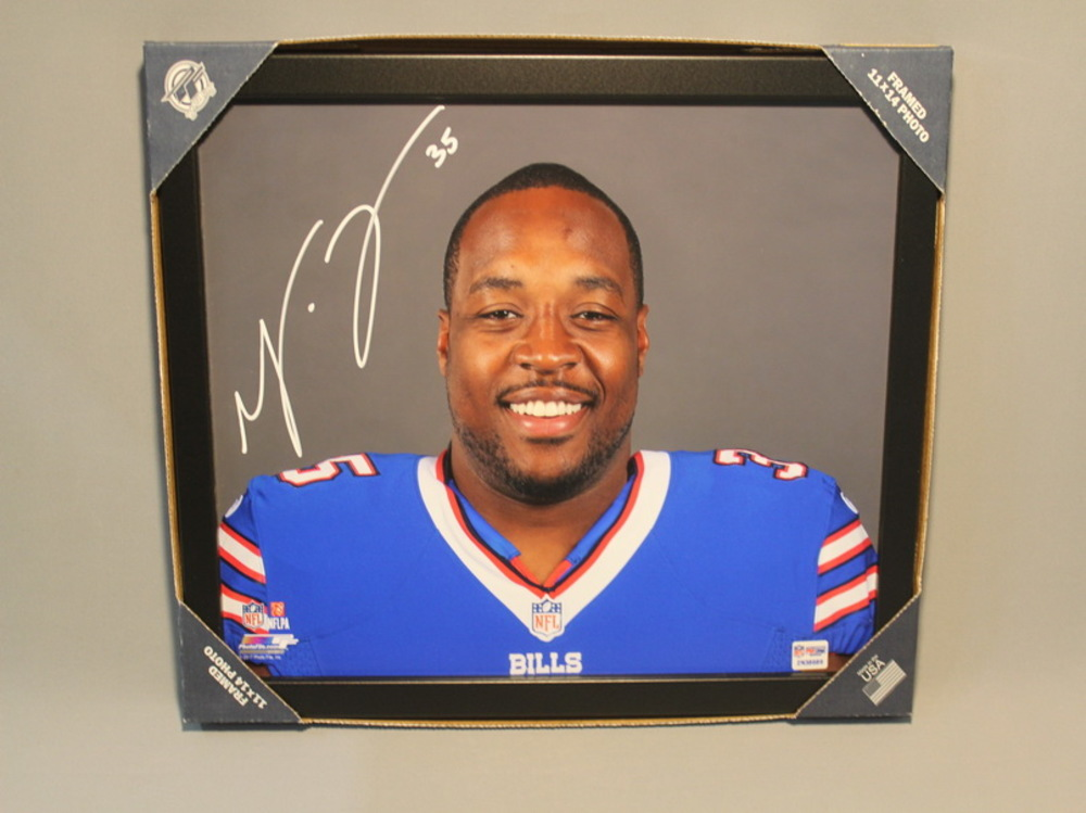 BILLS - MIKE TOLBERT 11X14 SIGNED FRAMED HEADSHOT PHOTO
