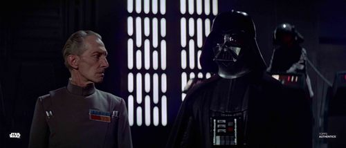 Grand Moff Tarkin and Darth Vader