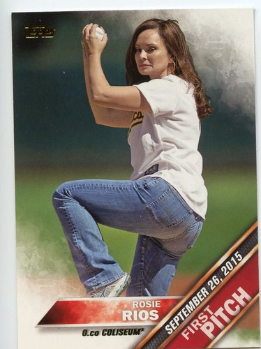 Photo of 2016 Topps First Pitch #FP3 Rosie Rios S2