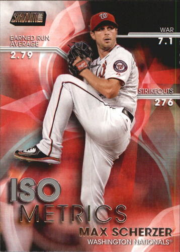 Photo of 2016 Stadium Club ISOmetrics #I19 Max Scherzer