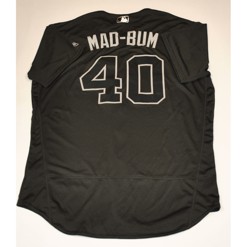 "Photo of Madison ""Mad-bum"" Bumgarner San Francisco Giants Game-Used 2019 Players' Weekend Jersey"