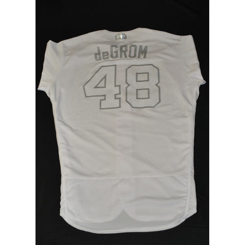 "Photo of Jacob ""deGROM"" deGrom New York Mets Game-Used 2019 Players' Weekend Jersey"