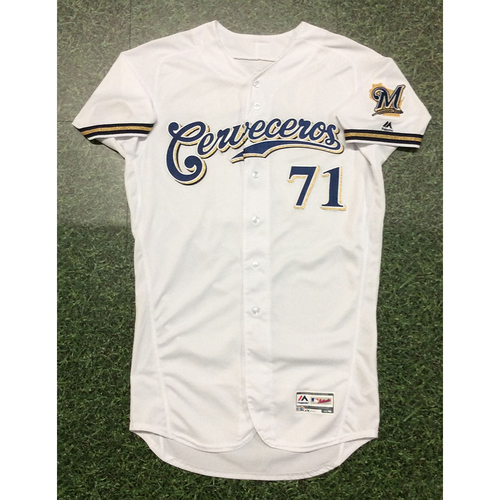 Photo of Josh Hader 2019 Game-Used Cerveceros Jersey