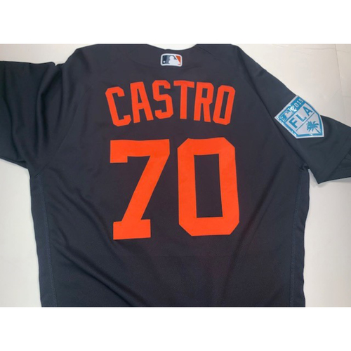 Photo of Team-Issued #70 Castro Road Spring Training Jersey