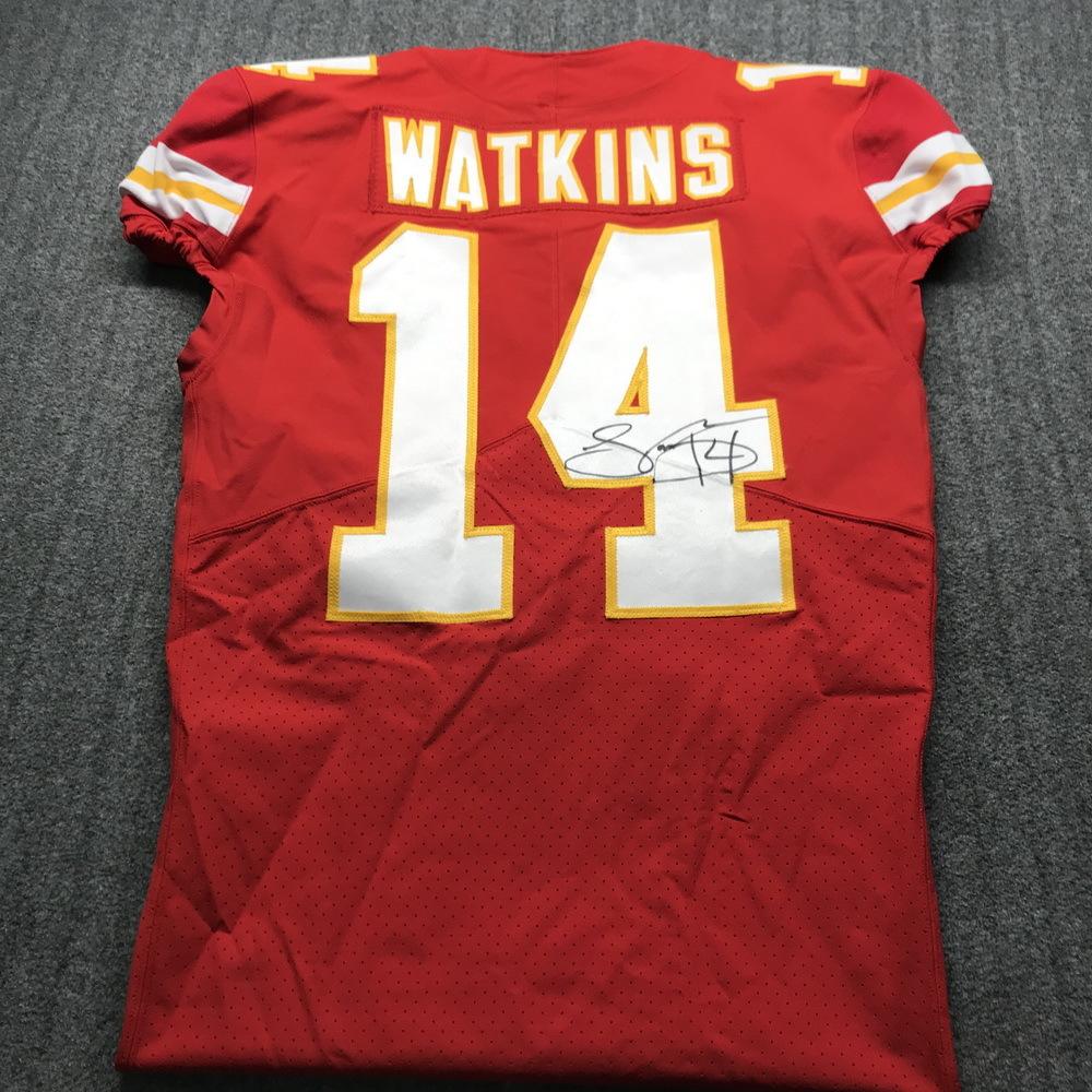 NFL Auction | Crucial Catch - Chiefs Sammy Watkins Signed Game ...
