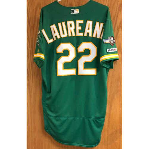 Photo of Team Issued Ramon Laureano Jersey w/ 2019 Postseason Patch