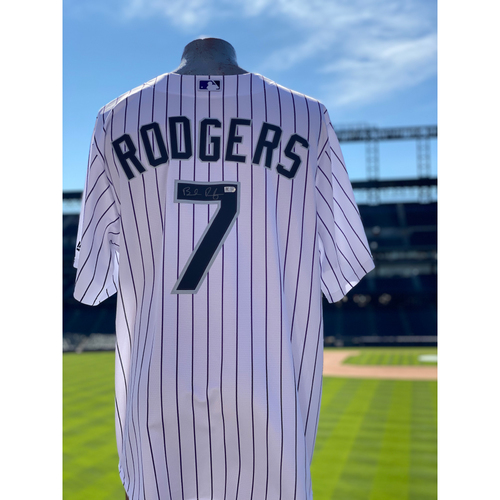 Photo of Colorado Rockies Autographed Home Jersey: Brendan Rodgers