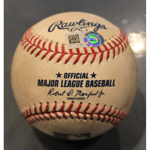 Photo of Game-Used Baseball: Brad Keller Pitched Strikeout to Christin Stewart (DET @ KC - 7/13/19)