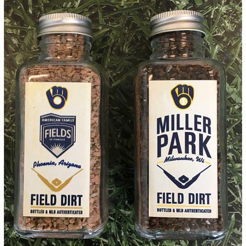 Photo of Game-Used Bottled Dirt - Regular Season (Miller Park) & Spring Training (American Family Fields of Phoenix)