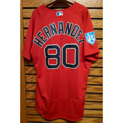 Photo of Darwinzon Hernandez #80 Red Team Issued 2019 Spring Training Jersey