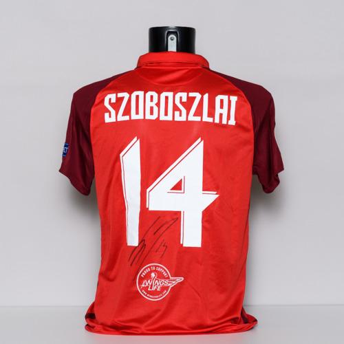 Photo of 20/21 FC Salzburg Jersey - signed by Dominik Szoboszlai