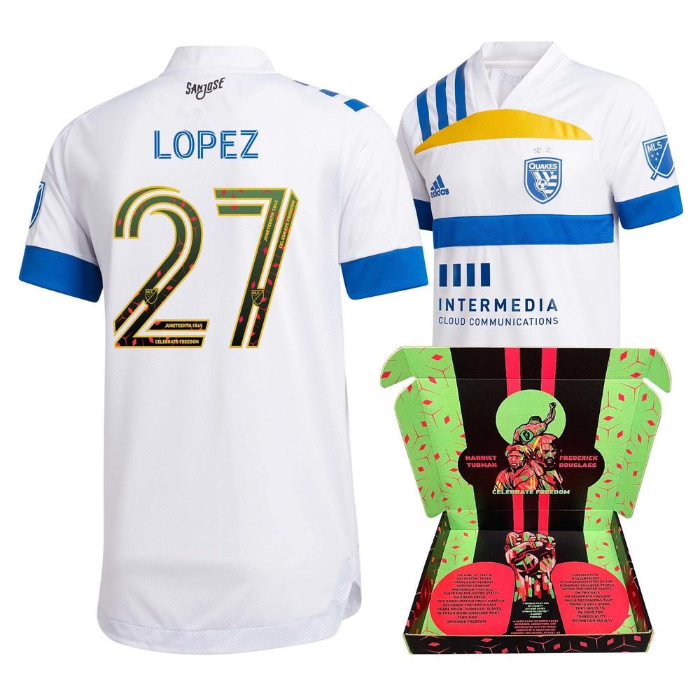 Eduardo Lopez San Jose Earthquakes Match-Used & Signed