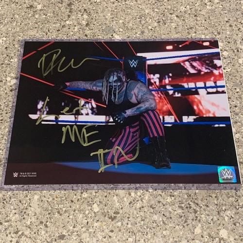 "Photo of Bray Wyatt SIGNED ""The Fiend"" 11x14 Metallic Photo (Ring Corner w/ Inscription)"
