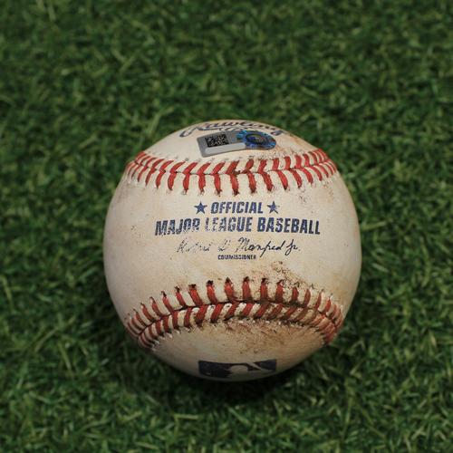 Photo of Game-Used Baseball: Ryan Jeffers 68th Career Hit (MIN@KC 10/1/21)