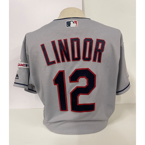 Photo of Team Issued Jersey - Francisco Lindor #12- 2019
