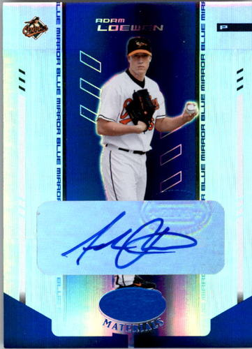 Photo of 2004 Leaf Certified Materials Mirror Autograph Blue #4 Adam Loewen/100