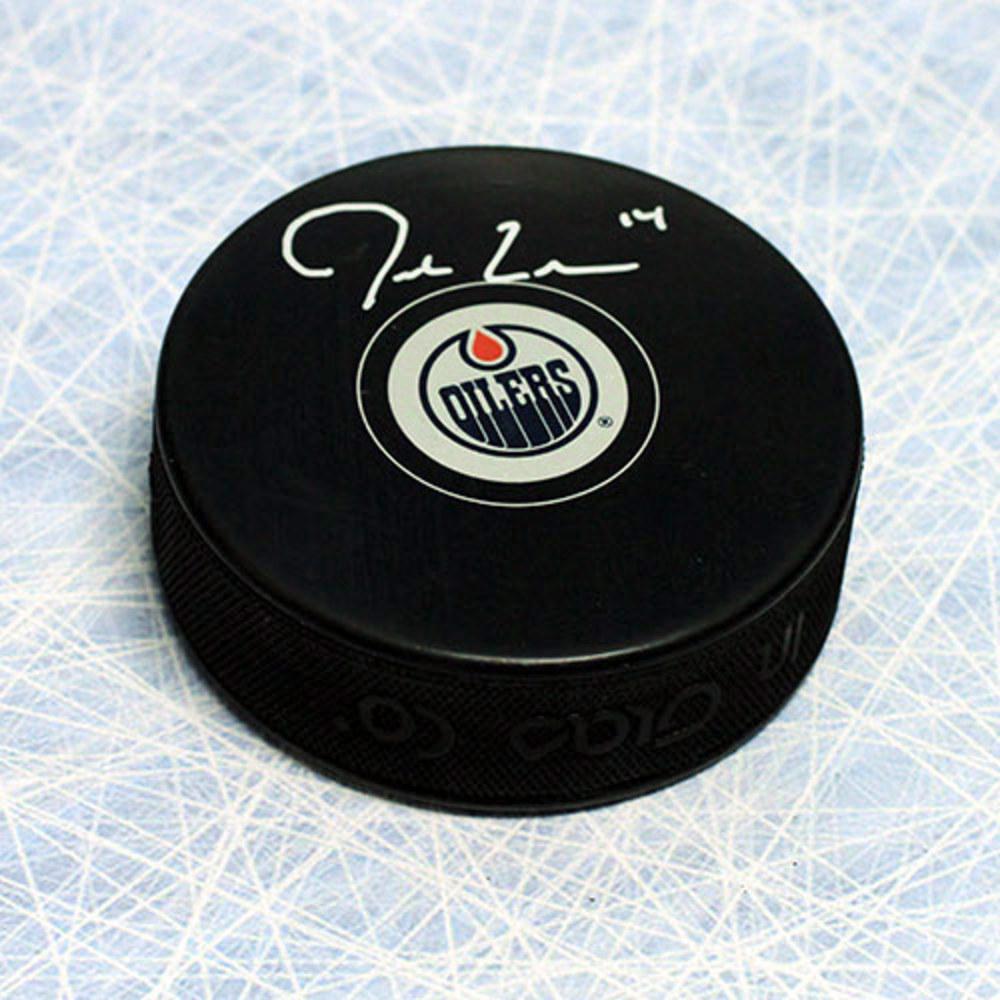 Jordan Eberle Edmonton Oilers Autographed Hockey Puck
