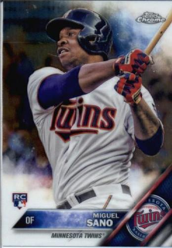Photo of 2016 Topps Chrome #104 Miguel Sano Rookie Card