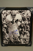 HOF - BROWNS LEROY KELLY SIGNED 11X14 FRAMED PICTURE