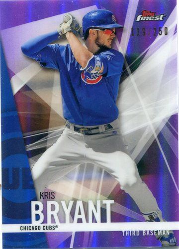 Photo of 2017 Finest Purple Refractors #100 Kris Bryant  119/250-- NLCS roster