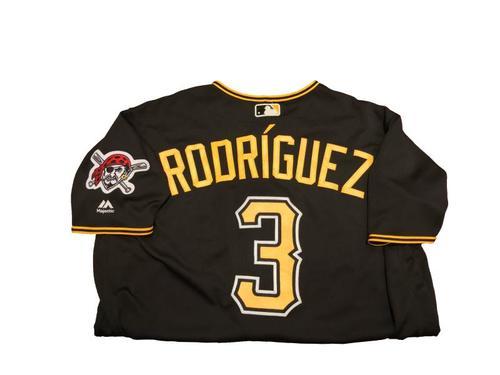 #3 Sean Rodriguez Game-Used Black Alternate Jersey - Worn on 9/2/17