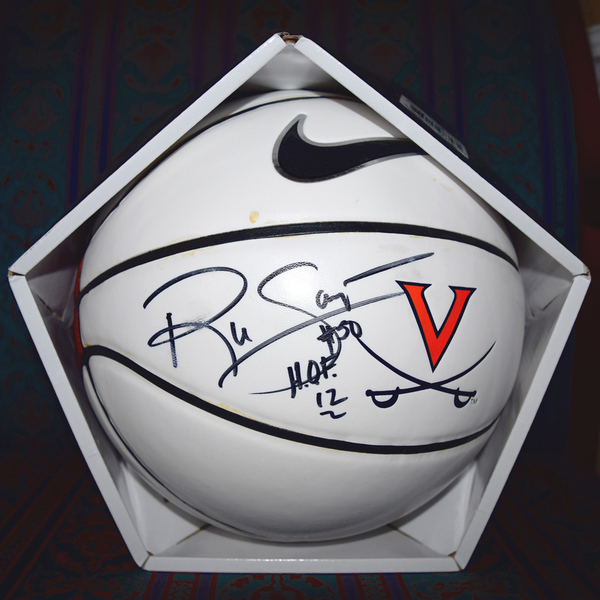 "Photo of Ralph Sampson Autographed Nike University of Virginia Basketball ""#50 H.O.F. 12"""