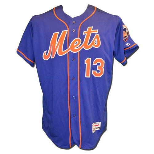 Photo of Asdrubal Cabrera #13 - Game Used Blue Alternate Home Jersey - Mets vs. Braves - 9/26/17