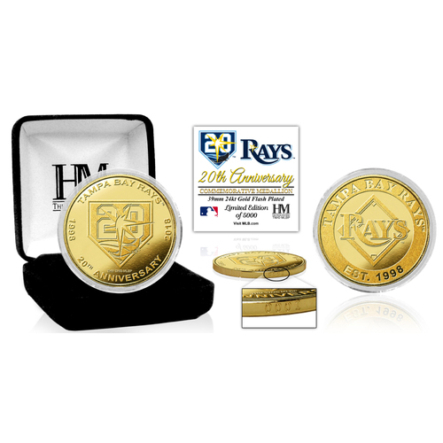 Photo of Tampa Bay Rays 20th Anniversary Gold Coin