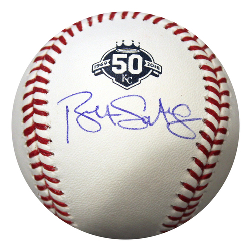 Photo of Autographed 50 Seasons Baseball: Bret Saberhagen