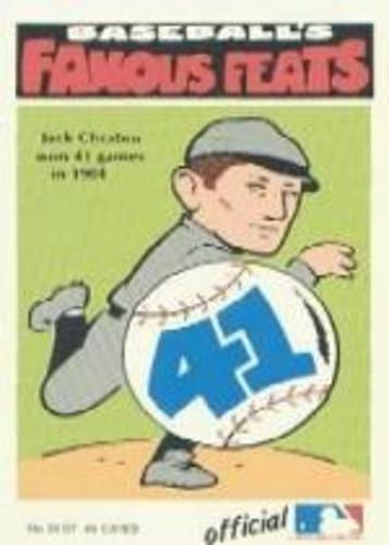 Photo of 1972 Fleer Famous Feats #39 Jack Chesbro Hall of Fame Class of 1946
