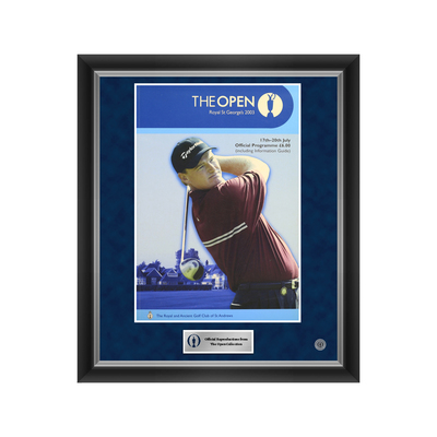 Photo of 1 of 500 L/E The 132nd Open Royal St George's 2003 Enlarged Programme Cover Reproduction Framed