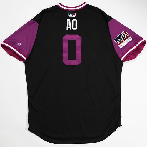 "Photo of Adam ""AO"" Ottavino Colorado Rockies Game-Used 2018 Players' Weekend Jersey"