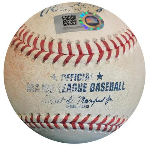 Photo of Game-Used Baseball from Pirates vs. Marlins on 9/8/18 - Austin Dean Single